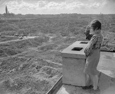 Looking over remains of Warsaw Ghetto [Poland, 1946]