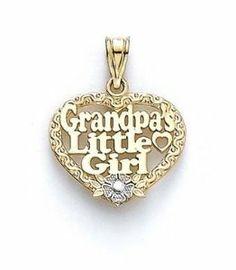 14k Grandpas Little Girl Pendant - JewelryWeb JewelryWeb. $254.60