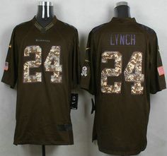 Men s Seattle Seahawks Jersey 24 Marshawn Lynch Nike Green Salute To Service  Limited Jerseys 199e52eec
