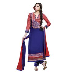 Buy Lilots Blue Cotton Dress Material by Lilots, on Paytm, Price: Rs.2335?utm_medium=pintrest
