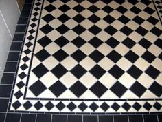 hallway flooring A simple and stylish black and white checkerboard pattern tiled hallway floor in Cork City. Kitchen Floor Tile Patterns, Bathroom Floor Tiles, Floor Patterns, Tile Floor, Hall Tiles, Tiled Hallway, Black And White Hallway, Black And White Tiles, Hall Flooring