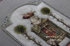 평온 위에 놓은 프랑스 자수 : 네이버 블로그 Embroidered Roses