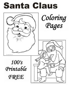 santa claus coloring pages - Santa Claus Coloring Printables