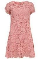 Dorothy Perkins Womens Orien Love Pink Crocheted Lace Dress- Pink on shopstyle.co.uk