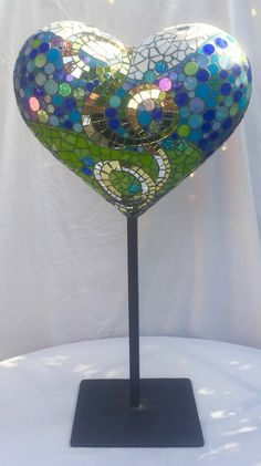 Mosaic Glass, Fused Glass, Glass Art, Stained Glass, Mosaic Crafts, Mosaic Projects, Mosaic Ideas, Free Mosaic Patterns, Sculpture Art