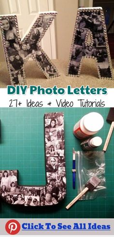 DIY Photo Letters - Picture Collage Ideas - 27+ Easy Ideas and Video Tutorials to Make a Letter-Shaped Photo Collage