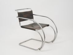 Ludwig Mies van der Rohe (American, b. Germany, Armchair, Chromium-plated tubular steel and leather. x x 87 cm). Courtesy Neue Galerie New York. Bauhaus Art, Bauhaus Design, Furniture Styles, Modern Furniture, Furniture Design, Classic Furniture, Bauhaus Furniture, Bauhaus Chair, Bauhaus Interior