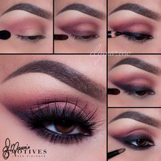 """Gorgeous look by #MotivesMaven @elymarino using All Motives! Steps: 1.Begin by applying """"Paper Doll"""" in the outer corner of the eyes and slightly above the crease 2.Using """"Stellar"""" apply as if you were applying a thick winged liner and blend in the very crease 3.Using Motives khol eyeliner in """"Onyx"""" apply as you would your liner! (Over lapping Stellar shadow) 4.Then taking a pencil brush and """"Onyx"""" shadow blend out the very edges extending the color outward 5.Line the waterline using """"LBD""""…"""