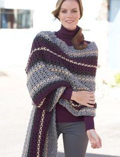Yarnspirations.com - Caron Crochet Afternoon Wrap - Free Pattern   Yarnspirations
