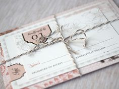super cute invitation! Colors, bow, layout, everything