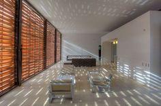Interior, Stunning Minimalist Home Interior Design By De La Carrera + Cavanzo Arquitectura: Brown Chairs With White Sofa Lather In Living Room