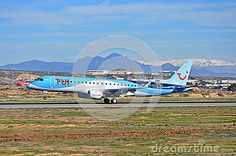A Thompsons TUI  jet touches down at Alicante Airport