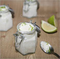 Glace au yaourt et citron vert  http://www.cuisineculinaireamal.com/article-glace-au-yaourt-et-citron-vert-119216816.html