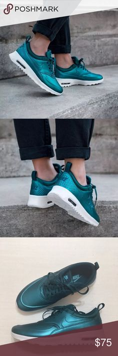 Women's Nike Air Max Thea SE Metallic Sneakers Women's Nike Air Max Thea SE Metallic Sneakers.  · Synthetic leather upper for support and durability · Phylon midsole/outsole for lightweight comfort  · Visible Max Air heel unit for superb cushioning · Sola