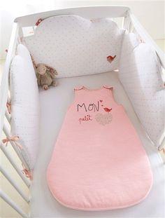 Tour de lit bébé ROSE IMPRIME - vertbaudet enfant