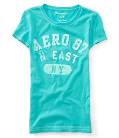Aero 87 Northeast NY Sequin Appliqué Graphic T - Aeropostale