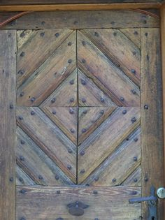Door from 1830 same door the man used. The Tell Tale Heart, Rustic Doors, French Country House, Architecture Details, Germany, Carving, Flooring, Cabinet, Rugs