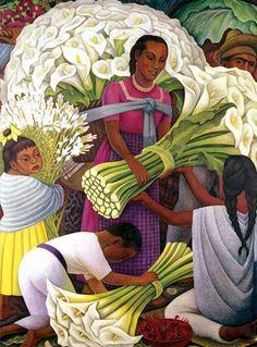 The Flower Vendor, by artist Diego Rivera
