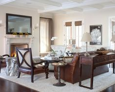 Traditional Spaces Behind Sofa Console Table Design, Pictures, Remodel, Decor and Ideas
