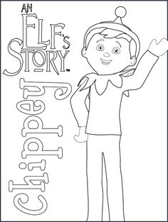 Elf on the shelf coloring page for elfie and the kids to colour in ...