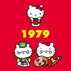 Hello kitty through the years 1979