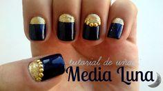 Diseño de uñas: MEDIA LUNA!♥ - FACIL Y RÁPIDO!