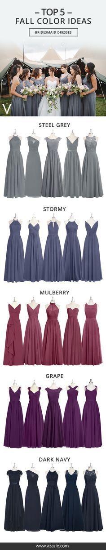 Vestidos madrinhas Tabela de cores