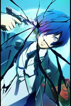 Tags: Shin Megami Tensei: PERSONA 3, Glass, Broken, MP3 Player, Yuuki Makoto (Persona 3), Evoker