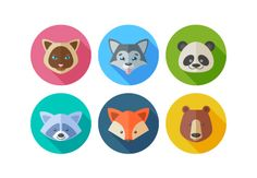In this tutorial we'll create six different animal portraits from one and the same circle! Let's have fun making a set of trendy flat elements using basic shapes.