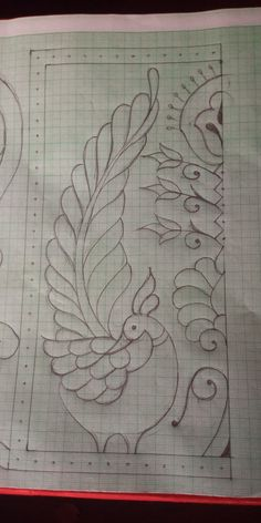 Peacock Embroidery Designs, Border Embroidery Designs, Hand Embroidery Patterns, Embroidery Stitches, Stencil Painting, Fabric Painting, Peacock Drawing, Blackwork Patterns, Quilled Paper Art