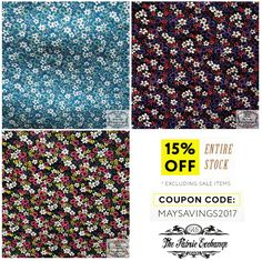 """""""You are as welcome as the flowers in May."""" - Charles Macklin This Printed Vinyl with Cotton Blend Backing Flower that has a shiny glossy vinyl print with a soft to touch cotton backing can be avail under 15% OFF using this coupon code: MAYSAVINGS2017 but excludes sale items! Visit: http://thefabricexchange.com/vinyl-patterns-prints/ #thefabricexchange #fabric #Printed #Vinyl #Cotton #Blend #Backing #Flower #DIY #shiny #glossy #soft #create #craft #sew #noSew #sale"""