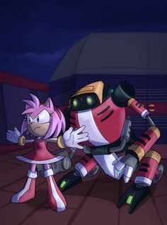 Amy was always the understanding type, helping villains convert to good. But I think the moment where she protected Gamma from Sonic was very important,. I won't let you hurt him! Amy Rose, The Sonic, Sonic The Hedgehog, Sonic Adventure, Sonic Fan Art, Star Party, Troll, All Star, Iron Man