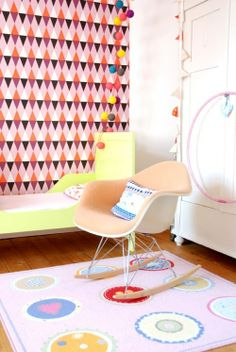 Love the ikea rug, bummer they don't make it anymore, lost the one we had :-(  Via mommo design
