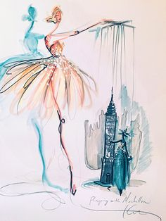 The Society of Illustrators: Winsor & Newton | Color Your City | Katie Rodgers | Paper Fashion