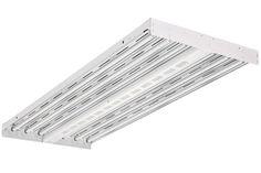 "Lithonia Lighting 227UUG Fluorescent High Bay Light Fixture Strip, 48"", White"