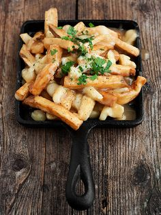 Authentic Canadian Poutine Recipe - fried fries, poutine gravy and white cheddar cheese curds | Seasons and Suppers