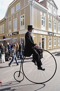 Sweden ~ The penny-farthing, also known as the high wheel.