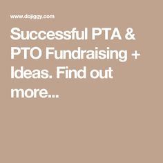 Overview of PTA fundraising goals and basics. Top 7 ideas for the PTA or PTO at your school. School Fundraisers, Fundraising Ideas, Pta, Non Profit, Success, Club, Board