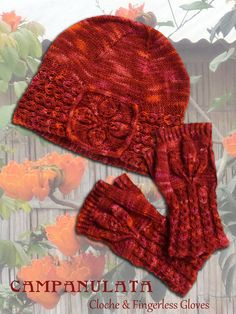 Campanulata Cloche and Fingerless Gloves
