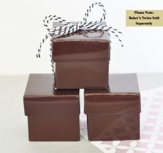 Mini Cube Boxes - Chocolate Brown (set of 12)