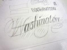 Hand lettering workshop / Ken Barber / @TypeLettering @adcmw