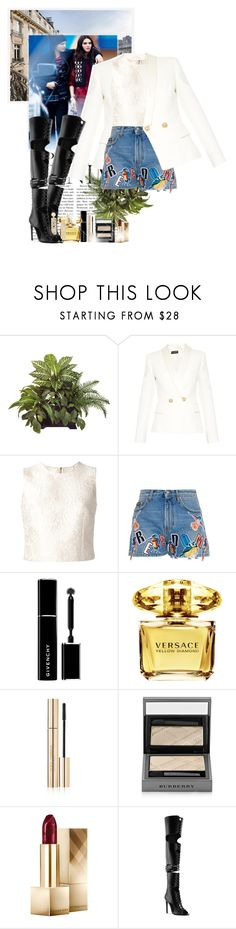 """""""My Favorite Mistake"""" by ionara ❤ liked on Polyvore featuring Balmain, Dolce&Gabbana, MSGM, Givenchy, Versace, Burberry, Chanel, Privileged and Moschino"""