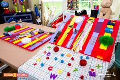 Create an educational sensory board for your little ones to play with! Catch #HomeAndFamily weekdays at 10/9c on Hallmark Channel!