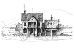 Palladian House – Quick Sketch by Charles Jos Biviano