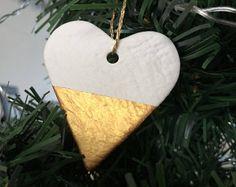 Handmade Heart Decoration / Gold