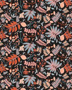Floral pattern by surface designer Mor Sky.