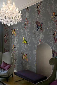 LOVE THIS WALLPAPER! Timorous Beasties Wallcoverings - Birds n Bees
