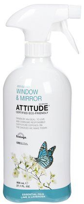 EWG Rated A: ATTITUDE Window and Mirror Cleaner. $4.99 for 27.1 oz on Soap.com