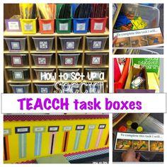 task box organization for a teacch program or special education program.