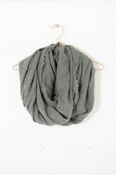 Frayed Infinity Scarf – Parc Boutique